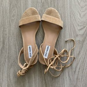 Steve Madden Suede Lace-Up Sandals
